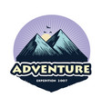 logo camping mountain climbing adventure vector image