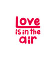 love is in air lettering vector image