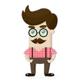 man in glasses vector image