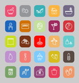 Massage line flat icons vector image