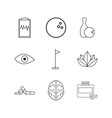 medical linear icon set simple outline icons vector image vector image