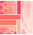 palette of different shades of living coral vector image vector image
