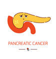 pancreatic cancer medical poster in cartoon style vector image