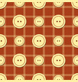 pattern with buttons of different sizes vector image