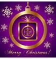 Pink Violet Gold Decorative Christmas Greeting vector image