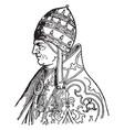 pope urban v vintage vector image vector image