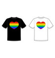 print for t-shirt with pride lgbt heart vector image