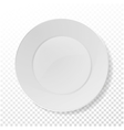 Realistic Plate Closeup Porcelain Mock Up vector image vector image