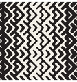 Seamless Black And White Chevron Geometric vector image vector image