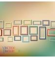 set colorful wooden frames vector image
