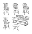 Set of assorted Chairs vector image vector image