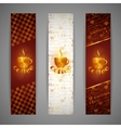 set of banners with coffee cup vector image vector image