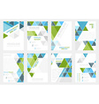 Set of business flyer template brochure or vector image vector image