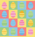 set of colored isolated easter eggs with an vector image