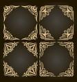 set of decorative golden frames vector image vector image