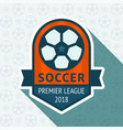 soccer cup badge vector image
