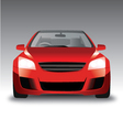 sports red car front view vector image vector image