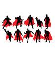 superhero activity silhouettes vector image vector image