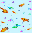 underwater pattern with fishes sea texture vector image vector image