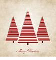 Vintage background for Christmas vector image vector image