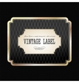 vintage golden label vector image vector image