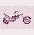 Vintage motorcycle retro bicycle extreme biker