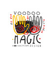 voodoo african and american magic logo with hands vector image vector image