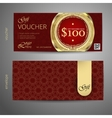 Voucher template with premium vintage pattern vector image vector image