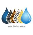 water droplets filtration symbol vector image vector image