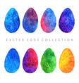 watercolor easter eggs collection vector image vector image