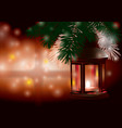 winter lantern scene vector image