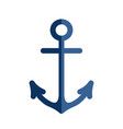 yacht anchor logo on white vector image vector image