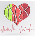 Abstract background with color strip heart vector image vector image