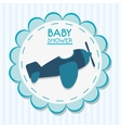 Airplane of baby shower card design vector image vector image