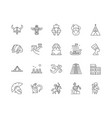 ancient civilization line icons signs set vector image vector image