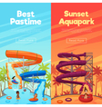 Aquapark Vertical Banners vector image vector image