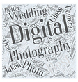 best digital photography wedding Word Cloud vector image vector image
