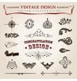 calligraphic vintage elements vector image vector image