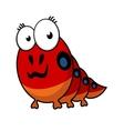 Cartoon caterpillar with big eyes vector image