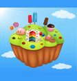 cartoon fantasy candyland vector image