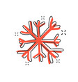 cartoon hand drawn snowflake icon in comic style vector image vector image