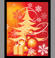 christmas backgraound vector image vector image