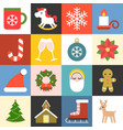 christmas icons set 2 flat design vector image