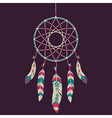colorful dream catcher vector image vector image