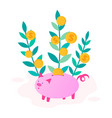 concept of thrift economy and capital growth vector image