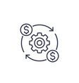 costs optimization and production efficiency icon vector image