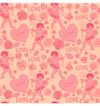 Cupid Love Pattern vector image vector image