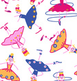 dancing girls seamless pattern vector image