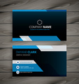 dark blue business card vector image vector image