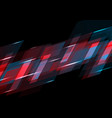 dark red and blue abstract tech background vector image vector image